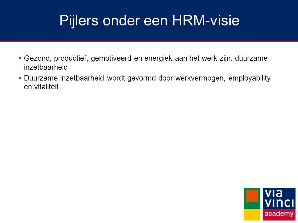 Pijlers onder een HRM-visie