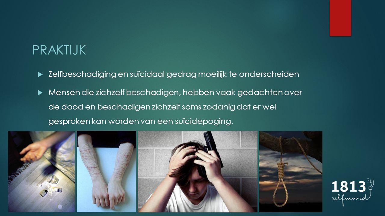 PRAKTIJK Zelfbeschadiging en suïcidaal gedrag moeilijk te onderscheiden.