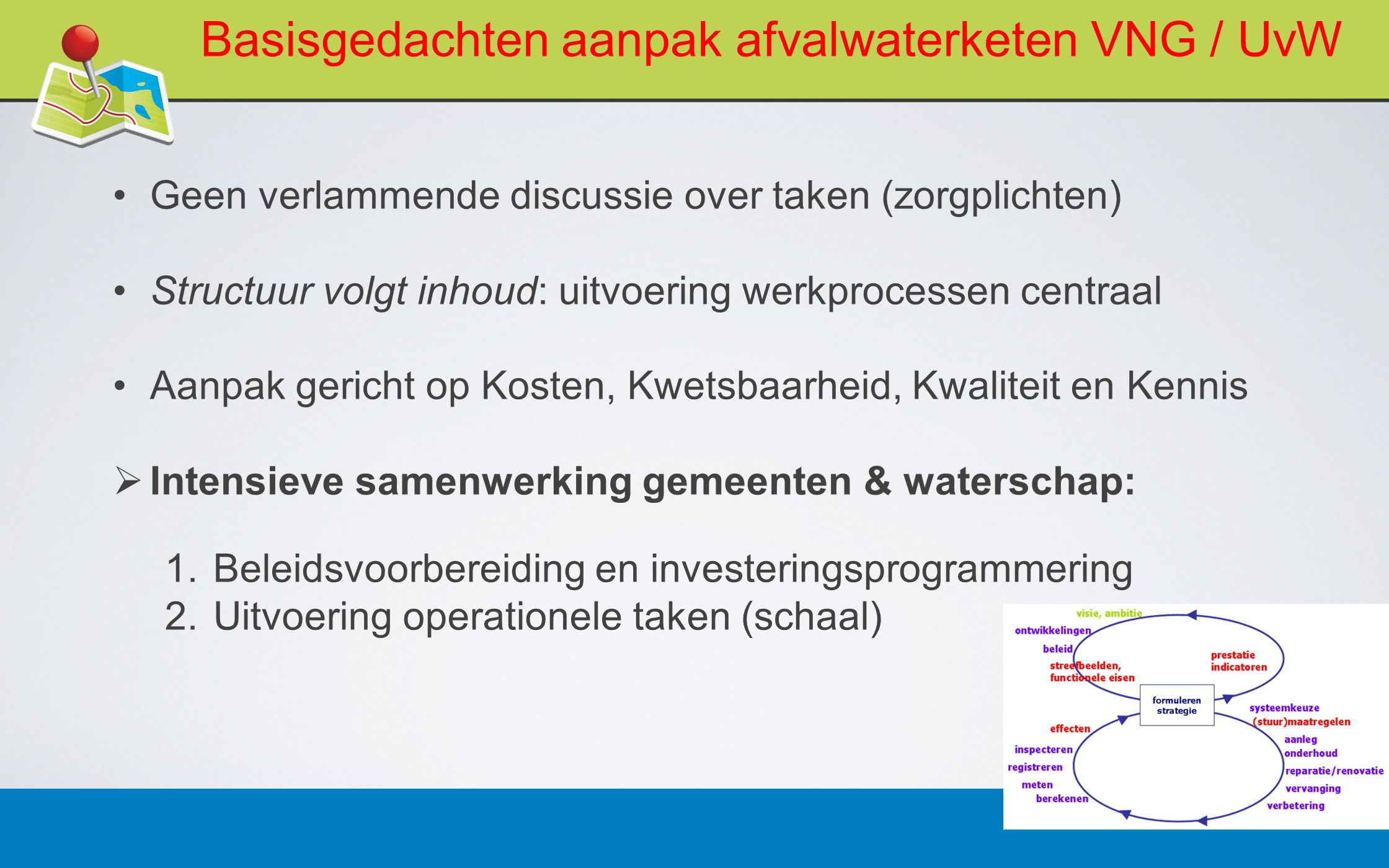 Basisgedachten aanpak afvalwaterketen VNG / UvW