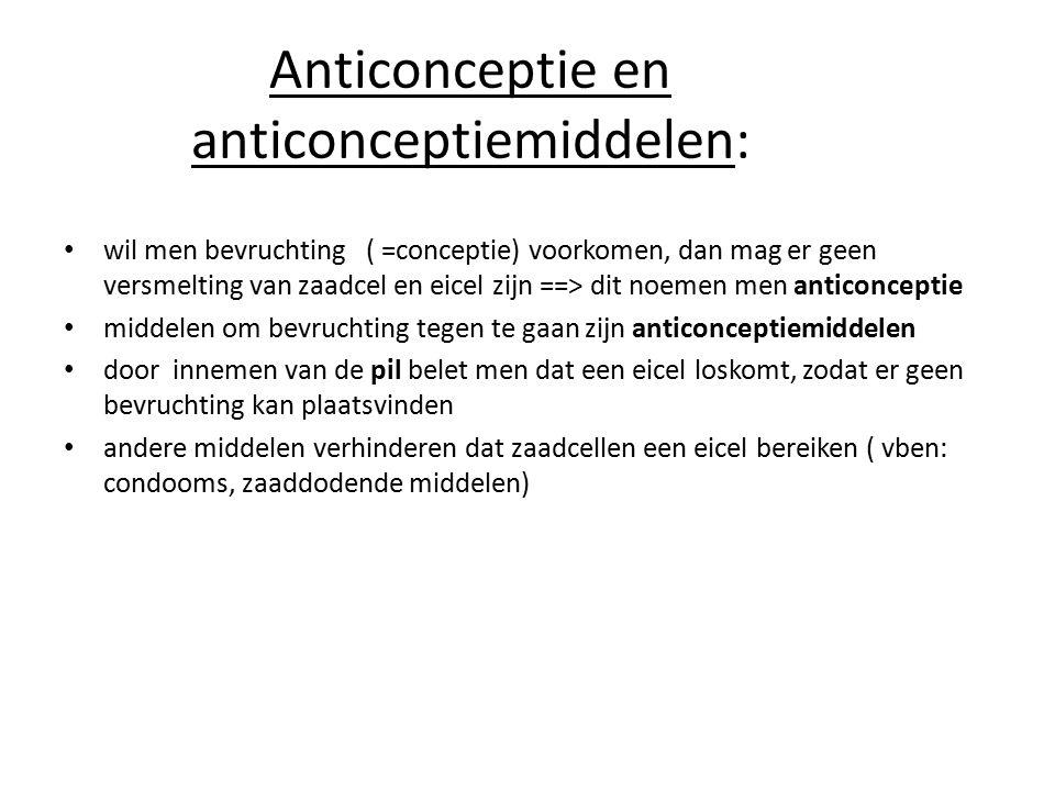 Anticonceptie en anticonceptiemiddelen:
