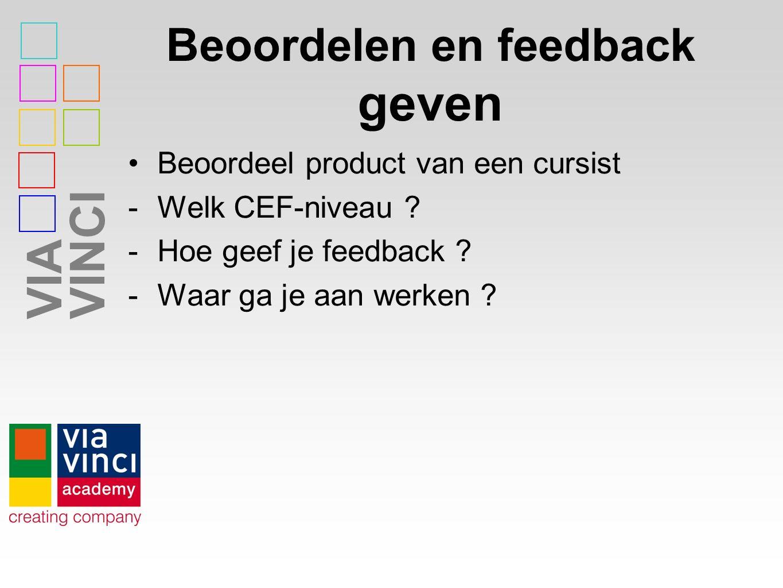 Beoordelen en feedback geven
