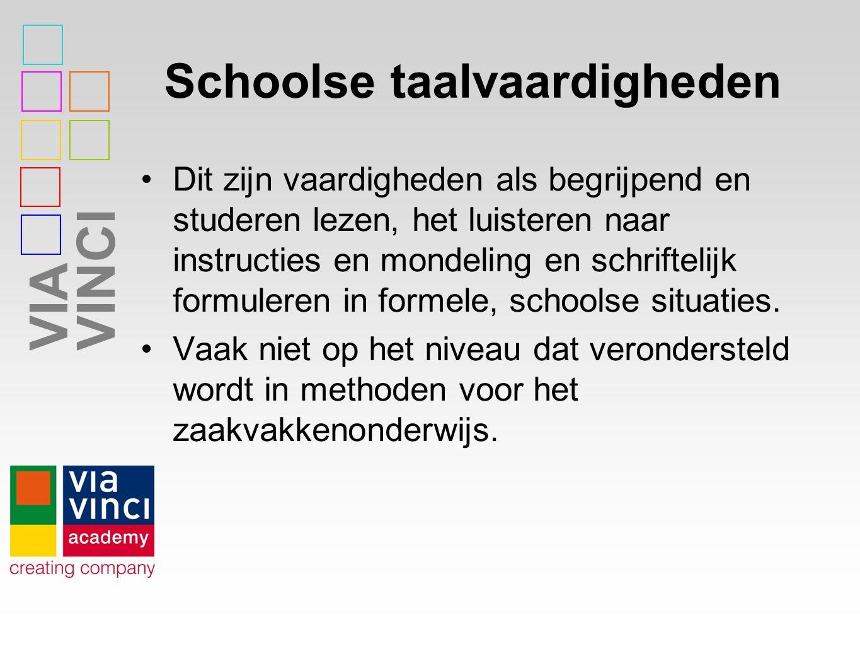 Schoolse taalvaardigheden