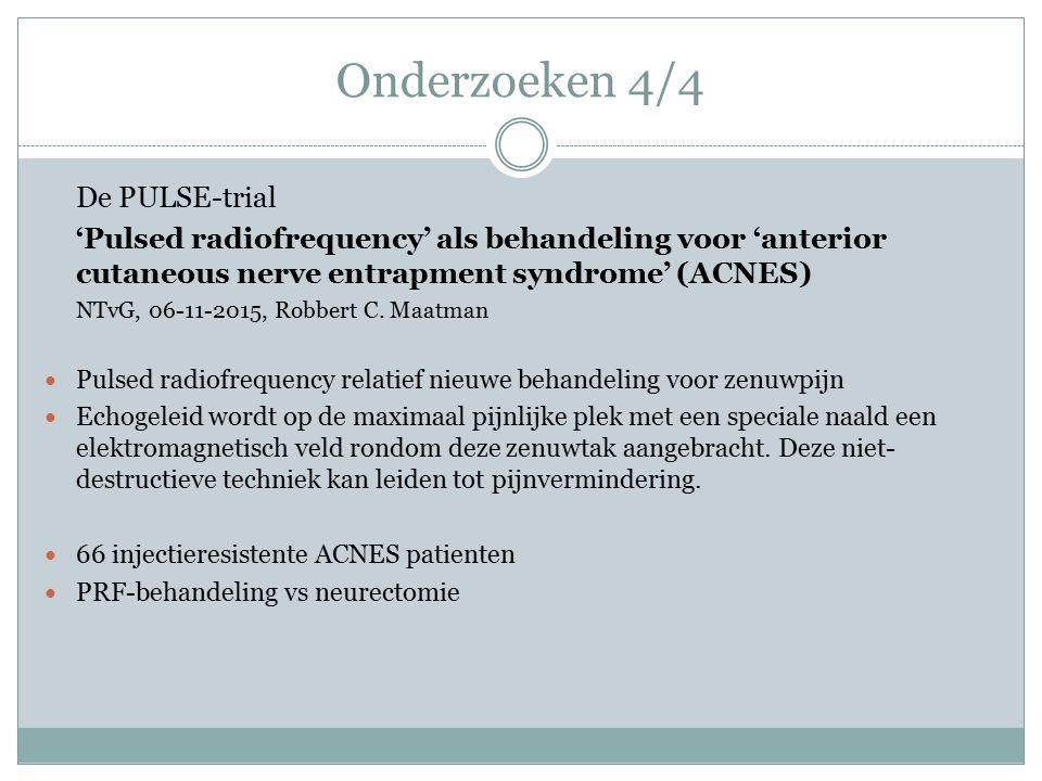 Onderzoeken 4/4 De PULSE-trial