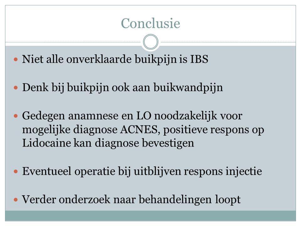 Conclusie Niet alle onverklaarde buikpijn is IBS