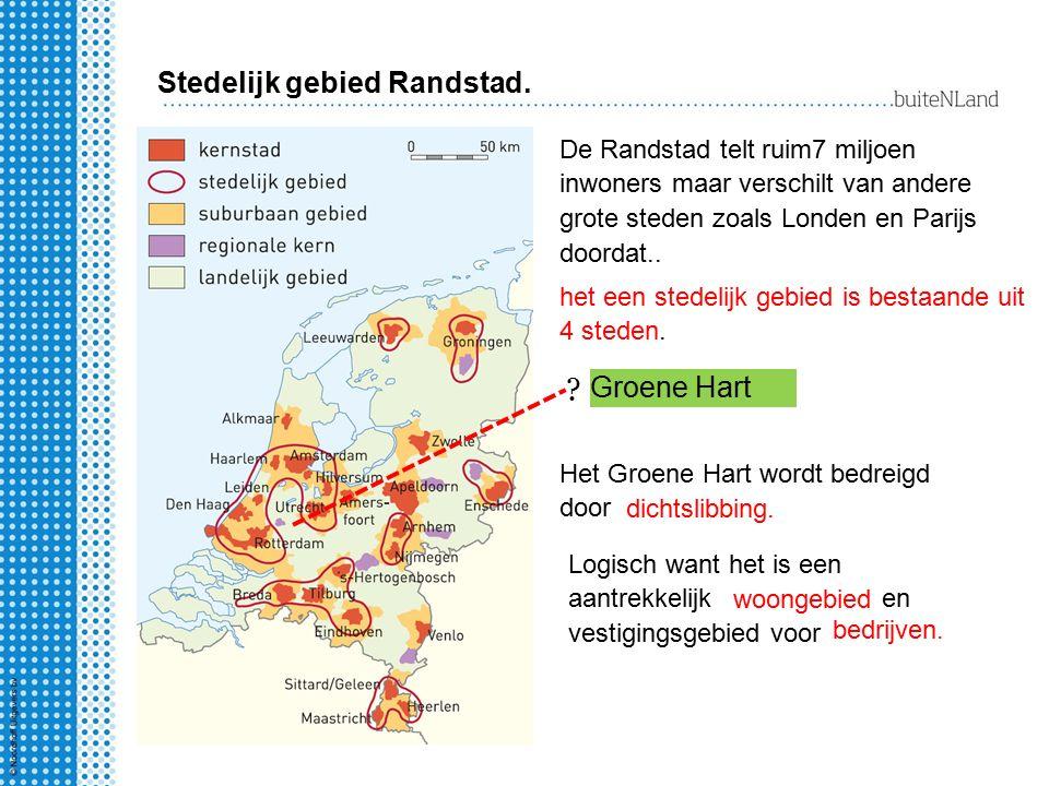 Stedelijk gebied Randstad. Groene Hart