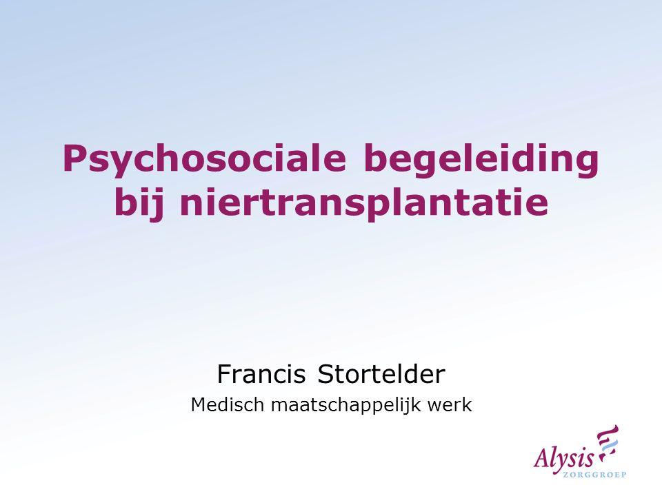 Psychosociale begeleiding bij niertransplantatie