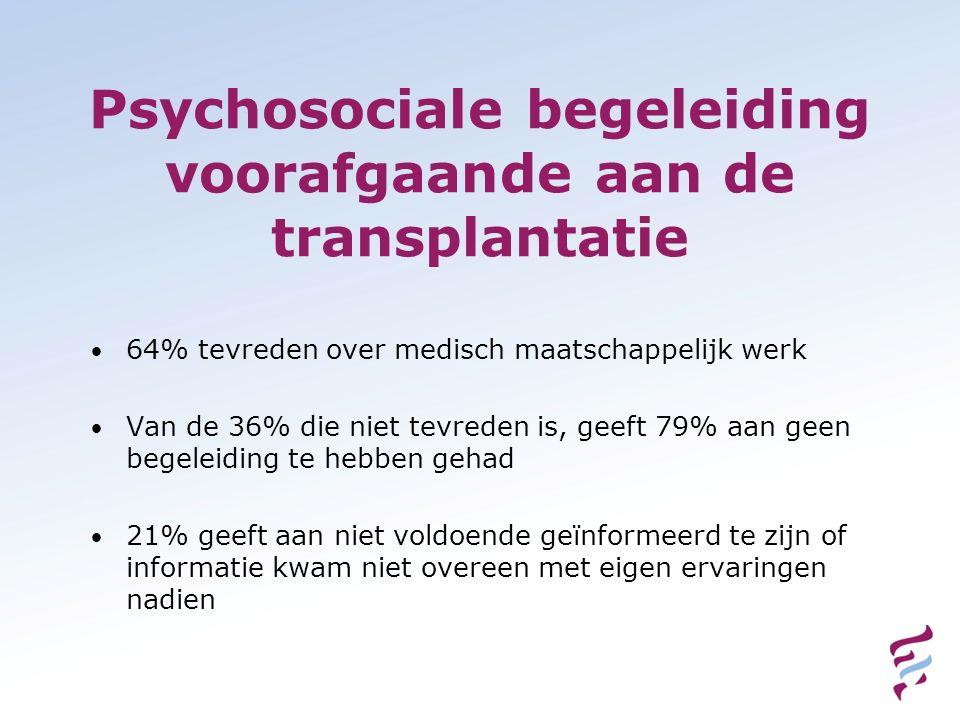 Psychosociale begeleiding voorafgaande aan de transplantatie