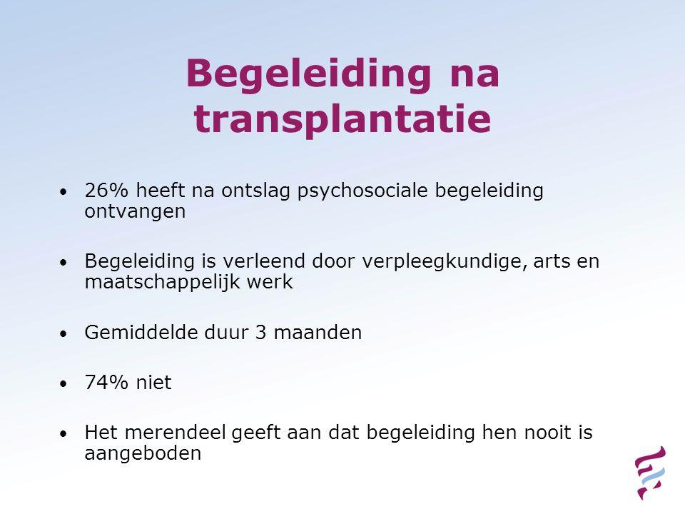 Begeleiding na transplantatie
