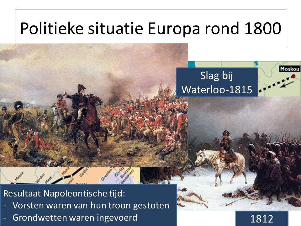 Politieke situatie Europa rond 1800