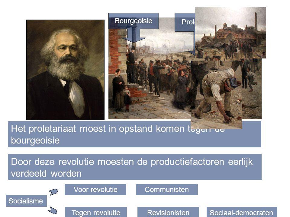 Het proletariaat moest in opstand komen tegen de bourgeoisie