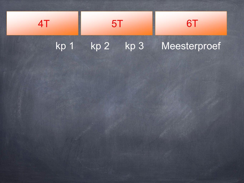 4T 5T 6T kp 1 kp 2 kp 3 Meesterproef