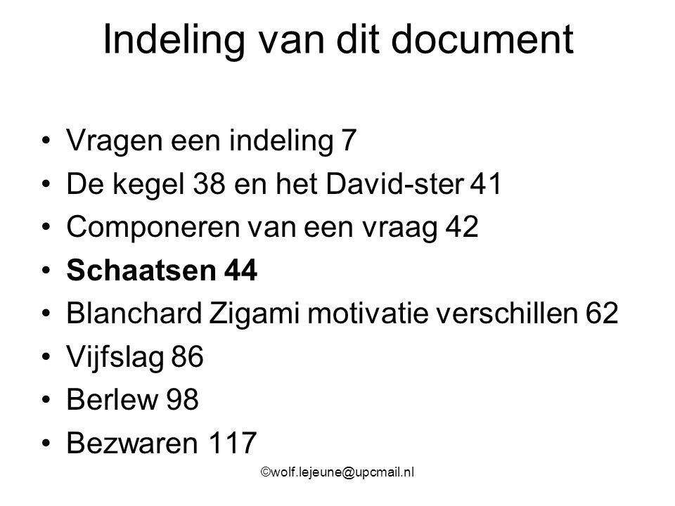 Indeling van dit document