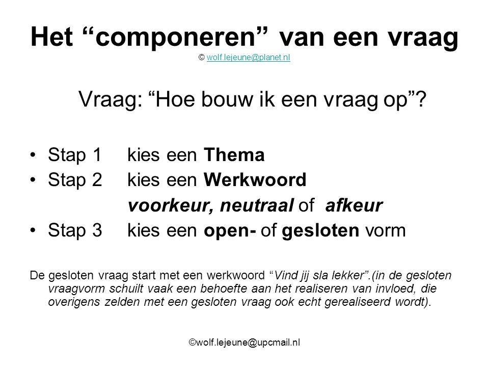 Het componeren van een vraag © wolf.lejeune@planet.nl