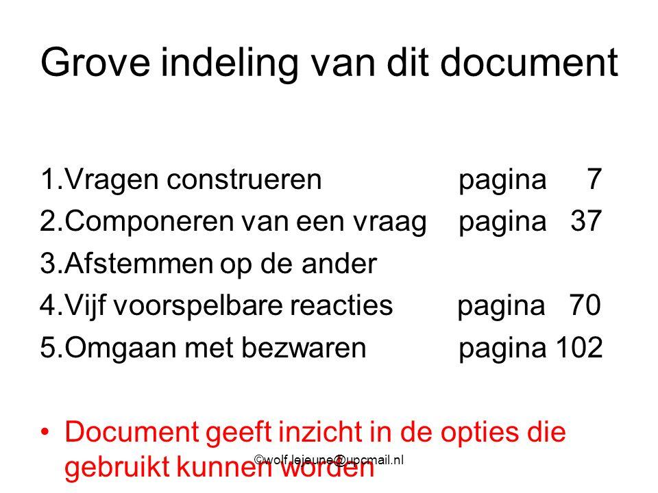 Grove indeling van dit document