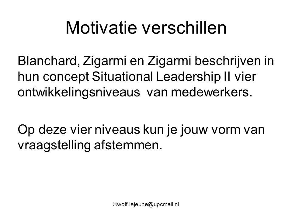Motivatie verschillen