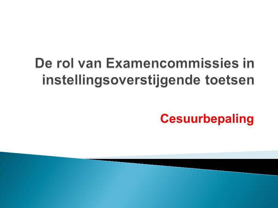 De rol van Examencommissies in instellingsoverstijgende toetsen
