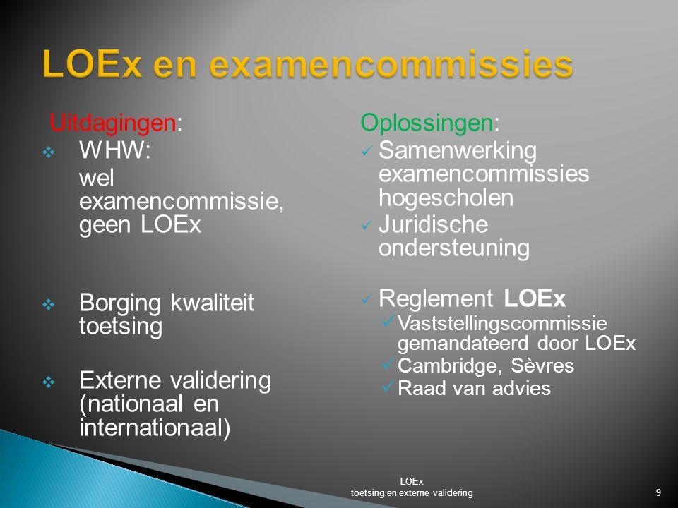 LOEx en examencommissies