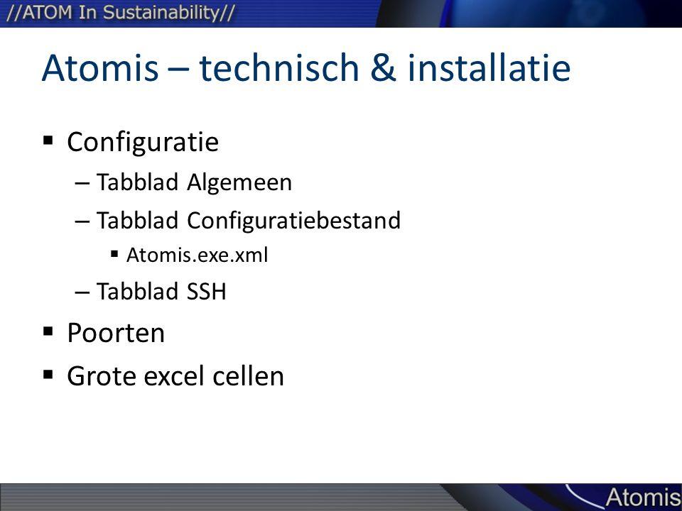 Atomis – technisch & installatie