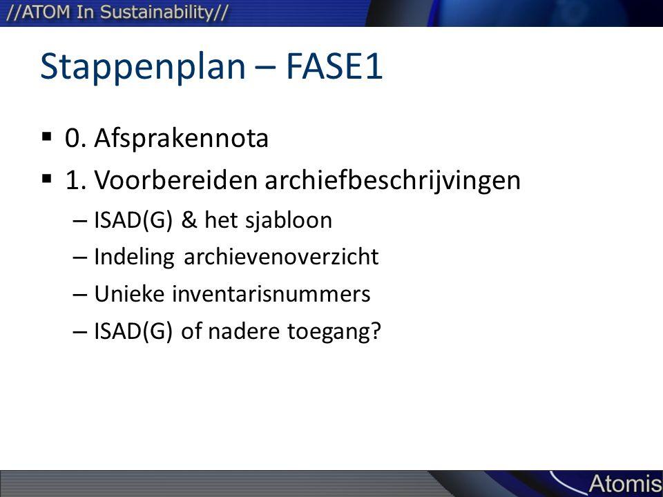 Stappenplan – FASE1 0. Afsprakennota