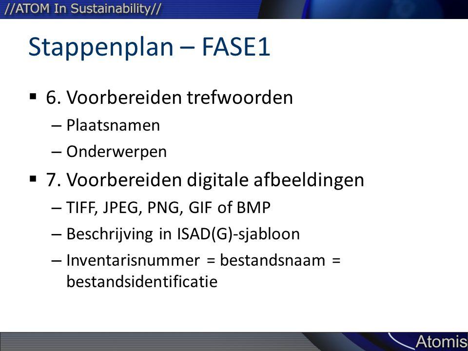 Stappenplan – FASE1 6. Voorbereiden trefwoorden