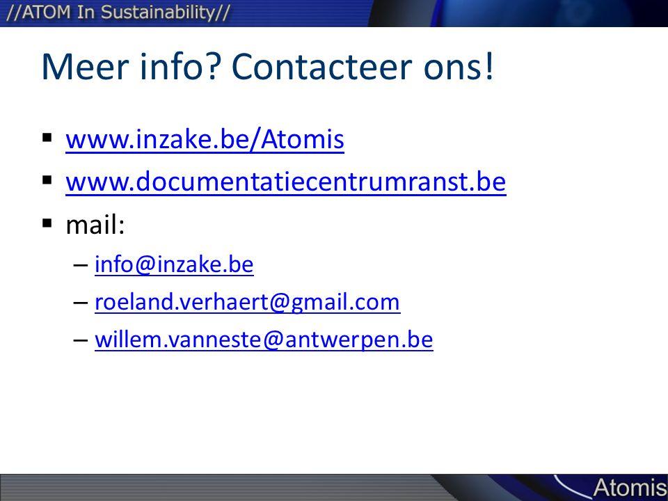 Meer info Contacteer ons!
