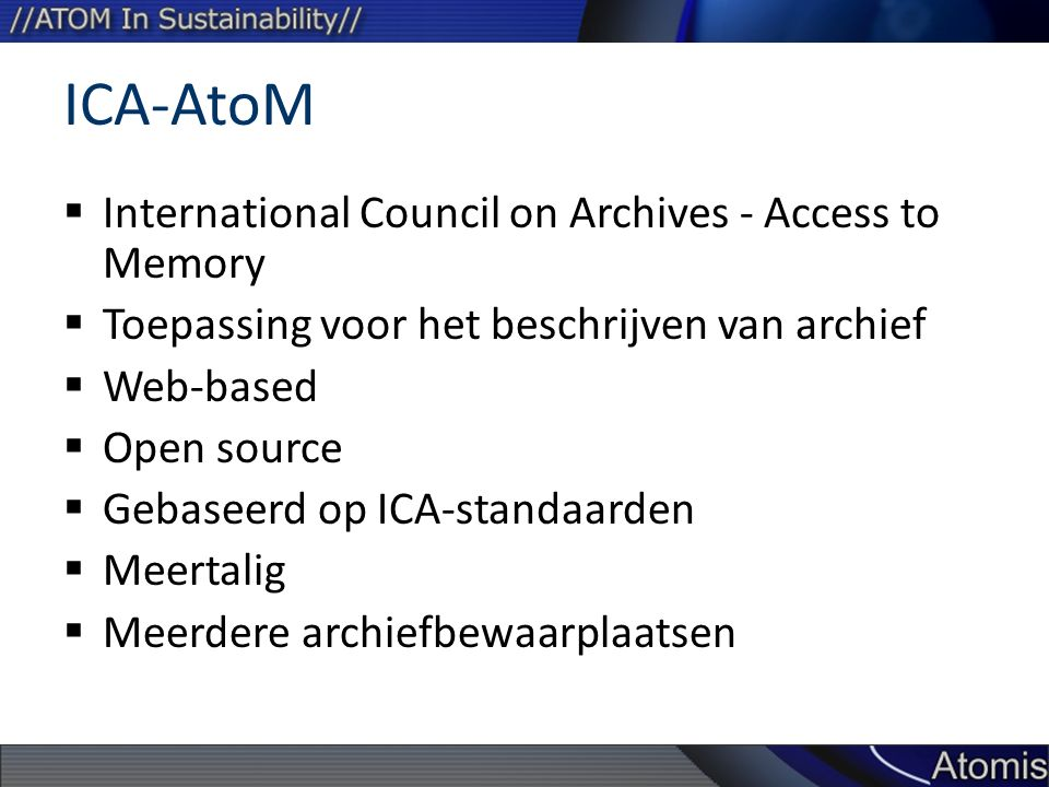 ICA-AtoM International Council on Archives - Access to Memory
