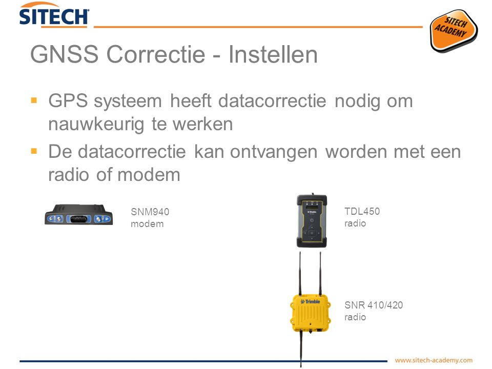 GNSS Correctie - Instellen