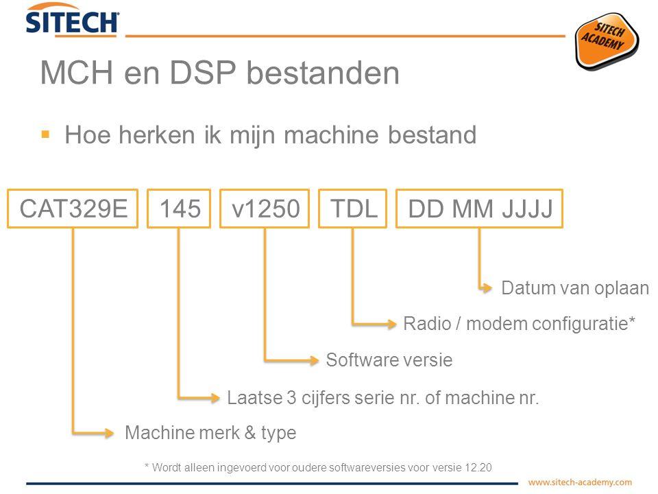 MCH en DSP bestanden Hoe herken ik mijn machine bestand