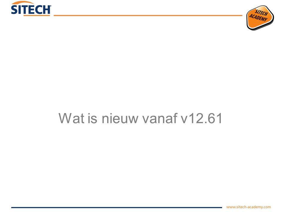 Wat is nieuw vanaf v12.61