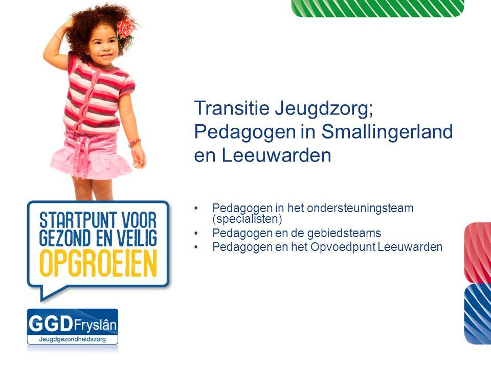 Transitie Jeugdzorg; Pedagogen in Smallingerland en Leeuwarden