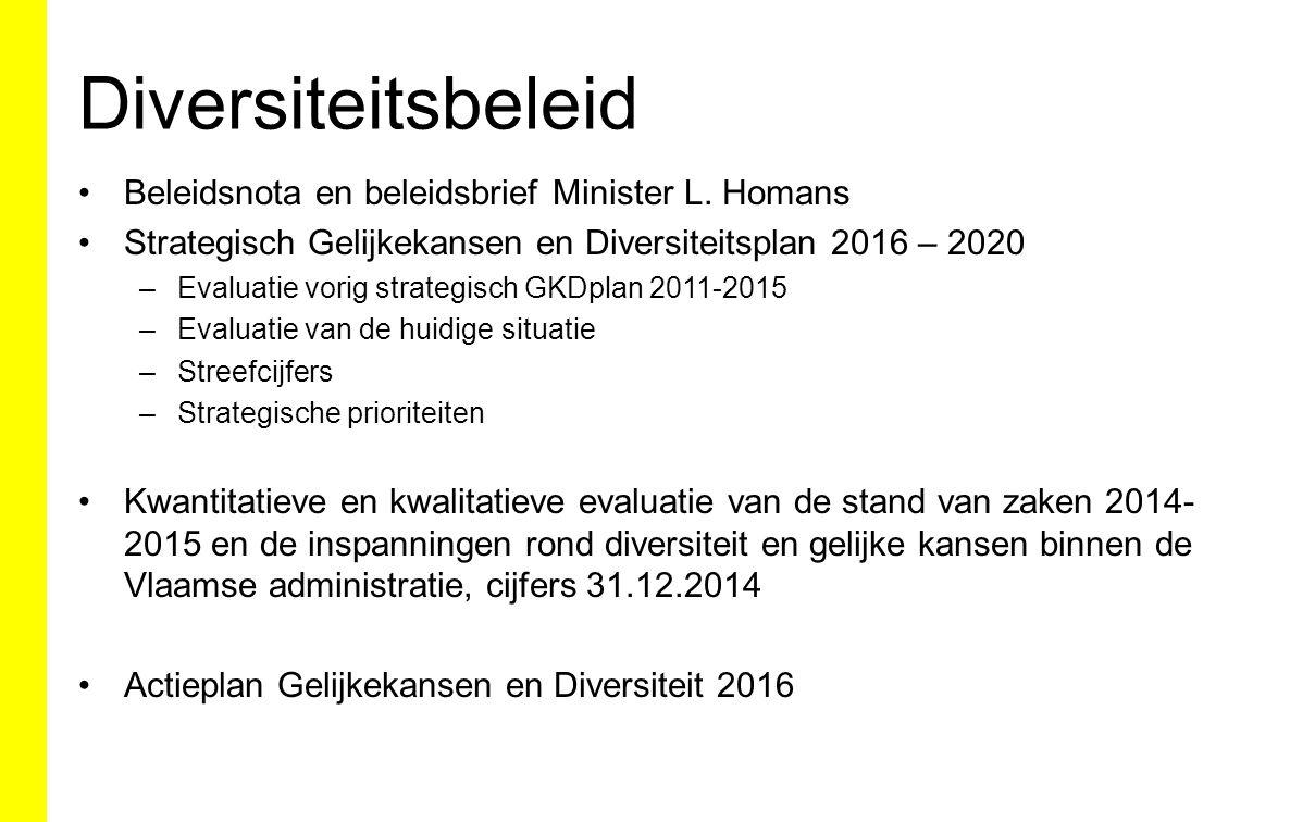 Diversiteitsbeleid Beleidsnota en beleidsbrief Minister L. Homans