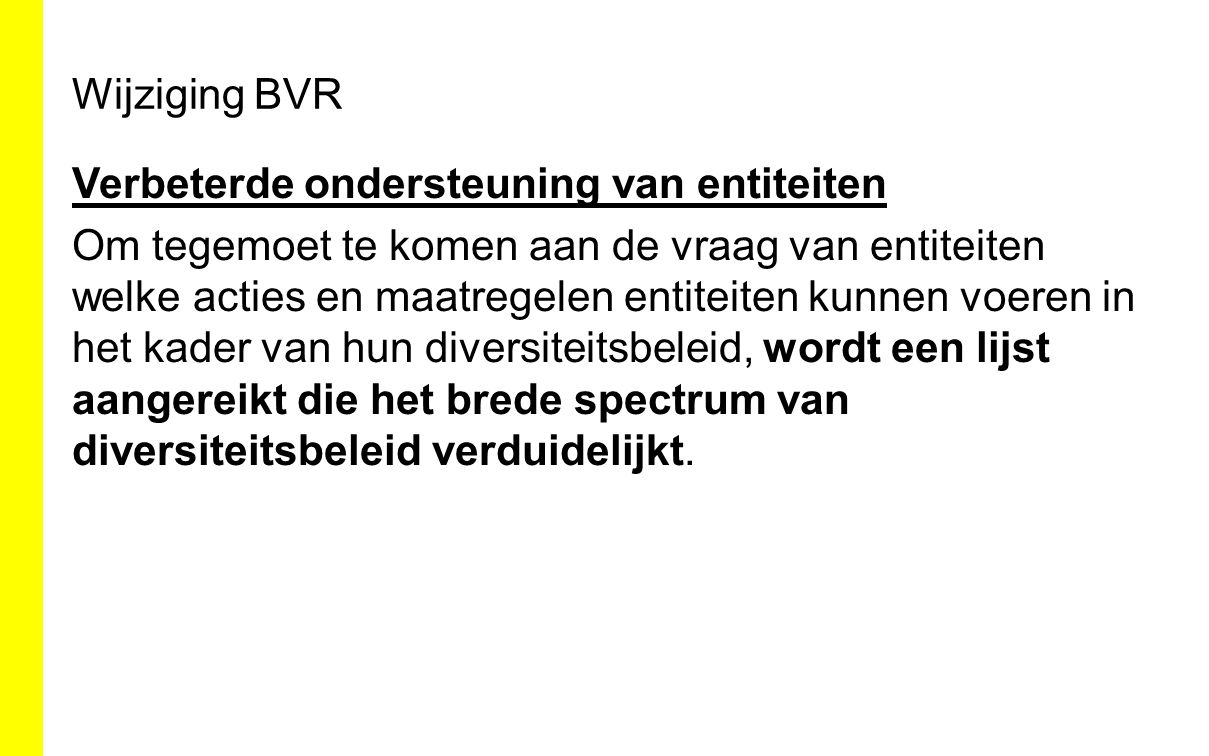 Wijziging BVR