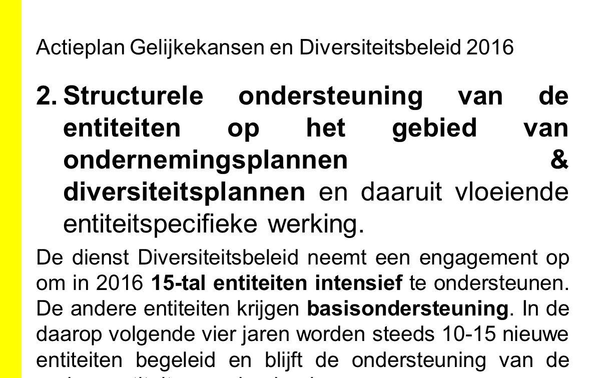 Actieplan Gelijkekansen en Diversiteitsbeleid 2016