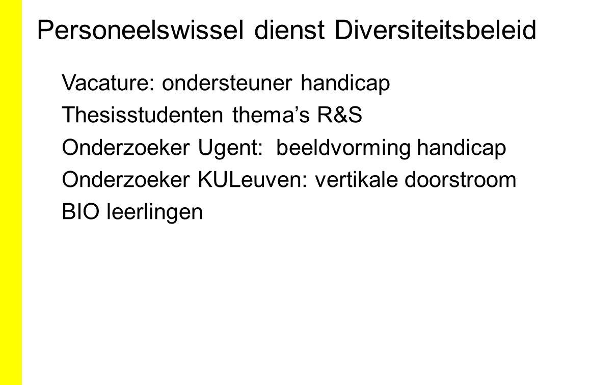Personeelswissel dienst Diversiteitsbeleid