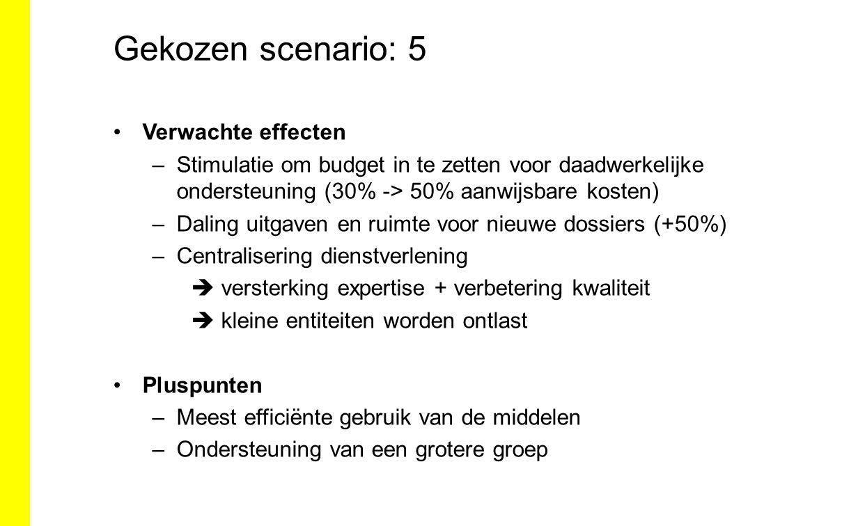 Gekozen scenario: 5 Verwachte effecten