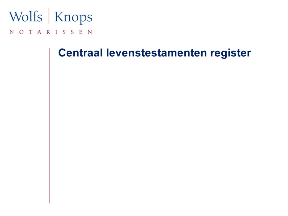 Centraal levenstestamenten register