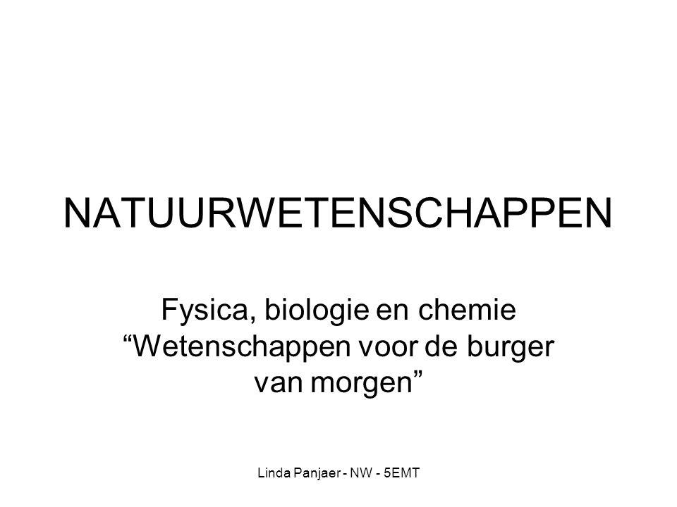 Fysica, biologie en chemie Wetenschappen voor de burger van morgen