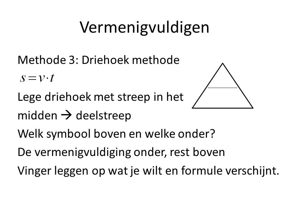 Vermenigvuldigen Methode 3: Driehoek methode s