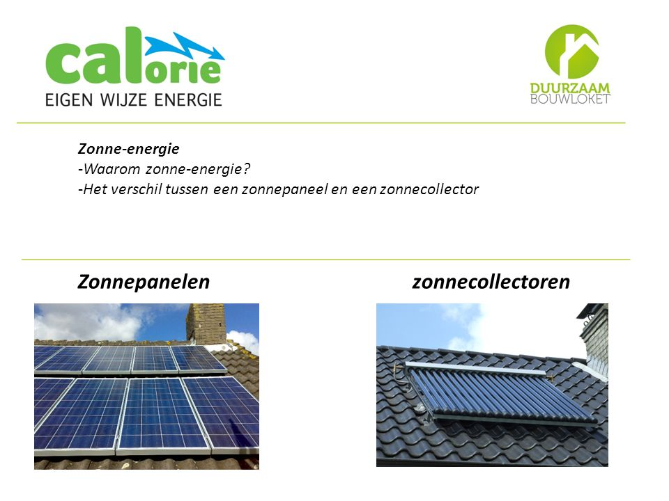 Zonnepanelen zonnecollectoren