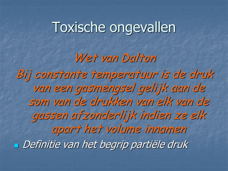 Toxische ongevallen Wet van Dalton