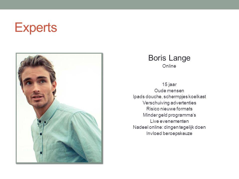 Experts Boris Lange Online 15 jaar Oude mensen