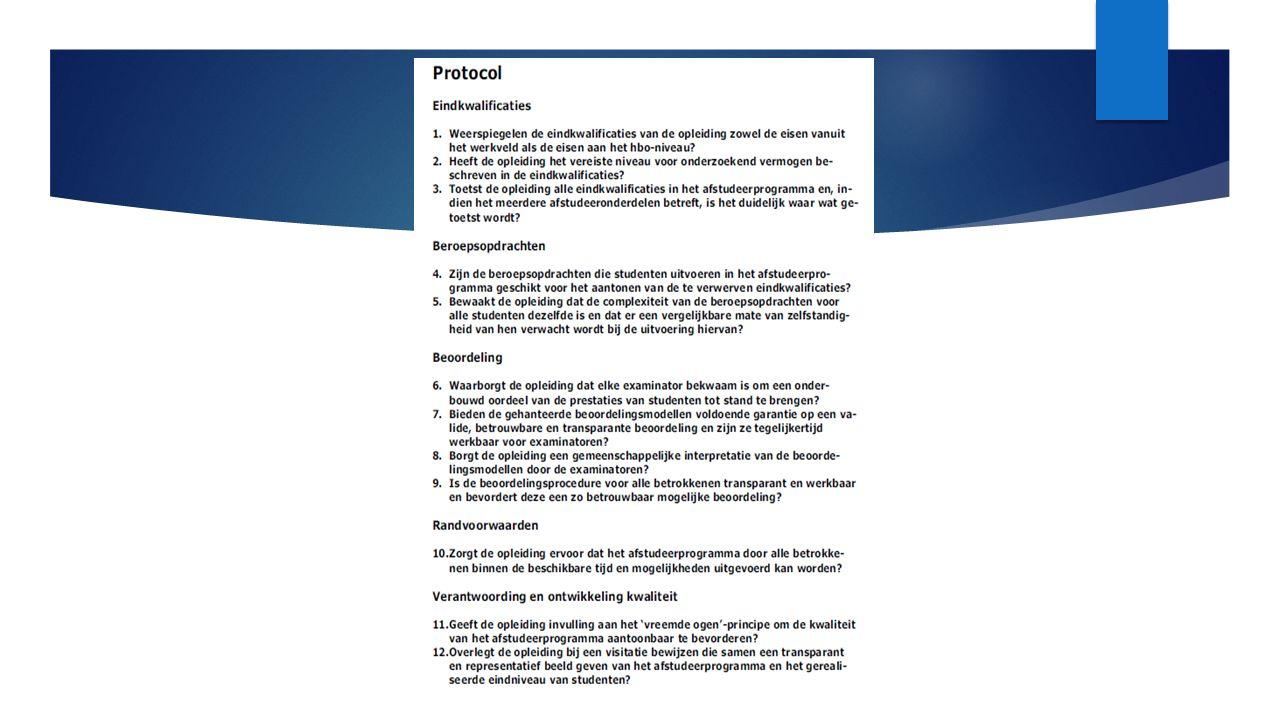 De twaalf vragen uit het protocol