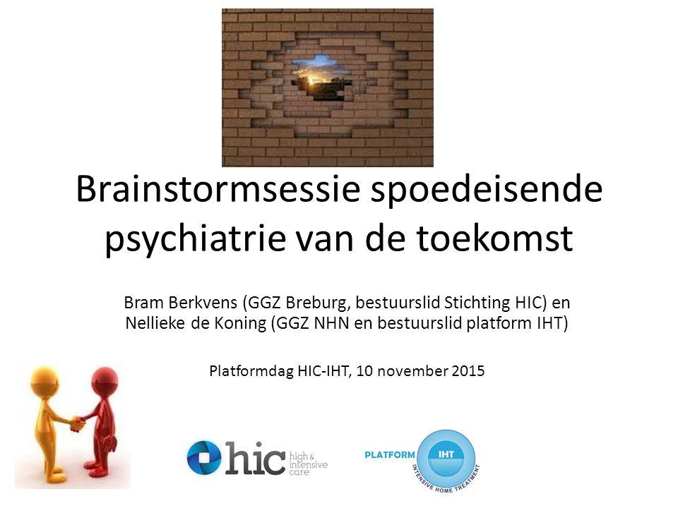 Brainstormsessie spoedeisende psychiatrie van de toekomst