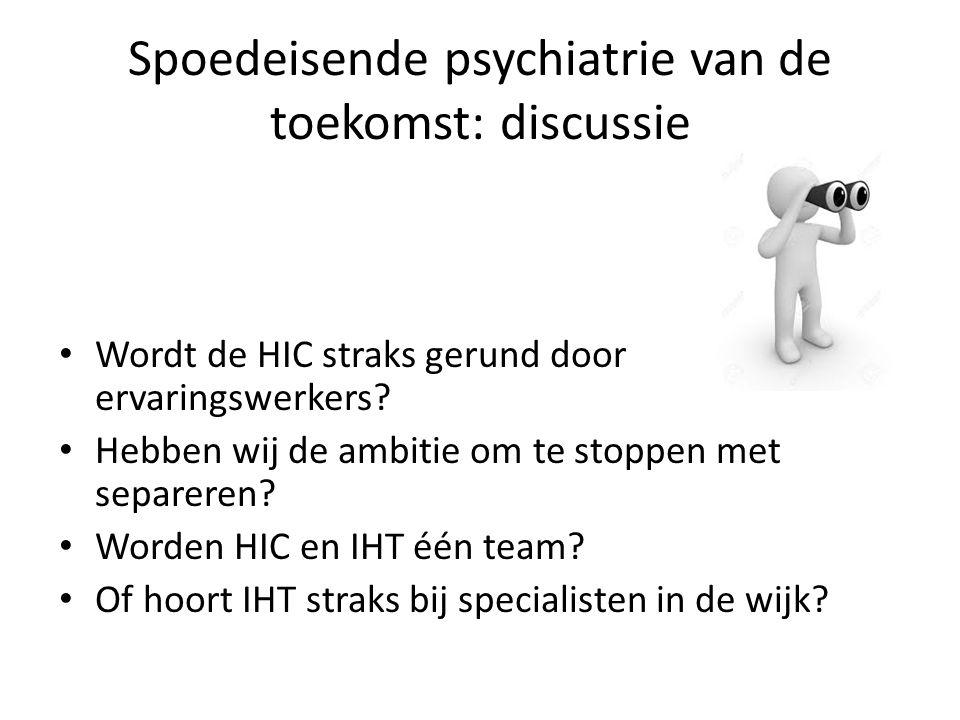 Spoedeisende psychiatrie van de toekomst: discussie