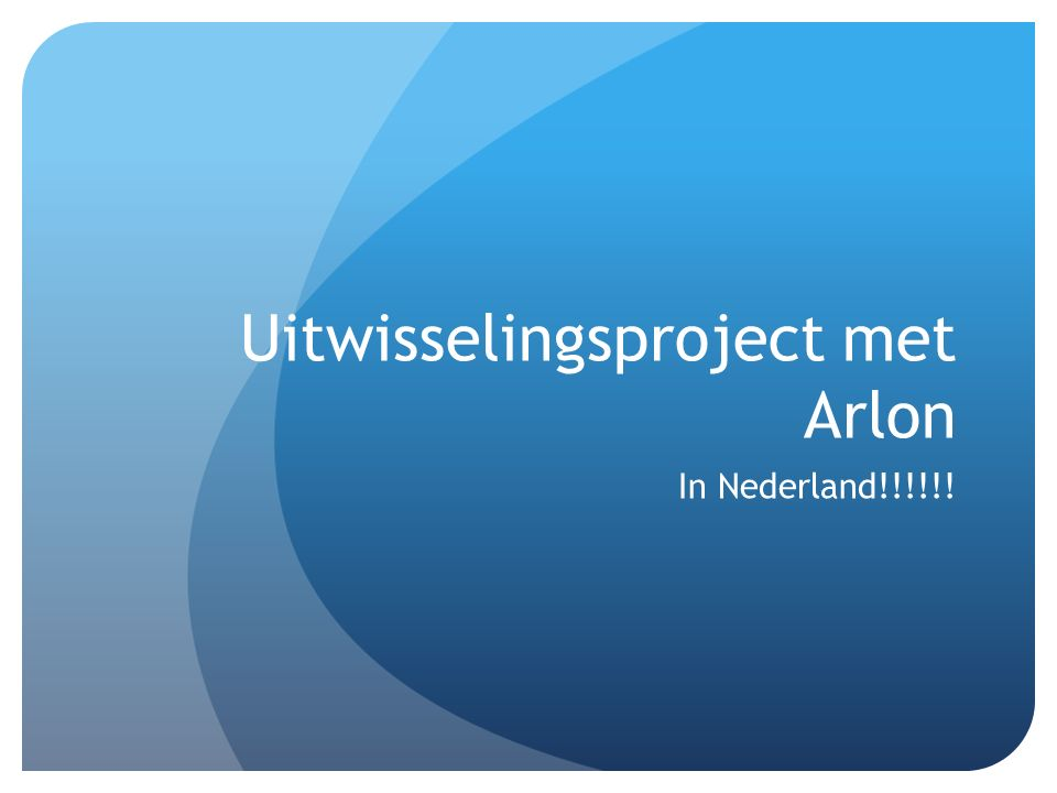 Uitwisselingsproject met Arlon
