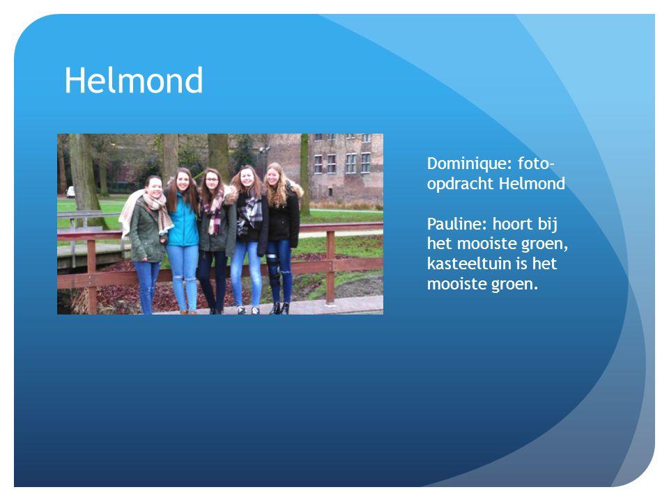 Helmond Dominique: foto-opdracht Helmond