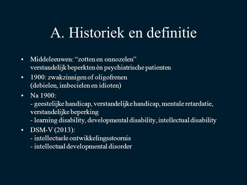 A. Historiek en definitie