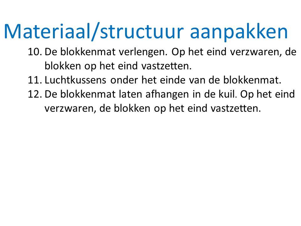 Materiaal/structuur aanpakken