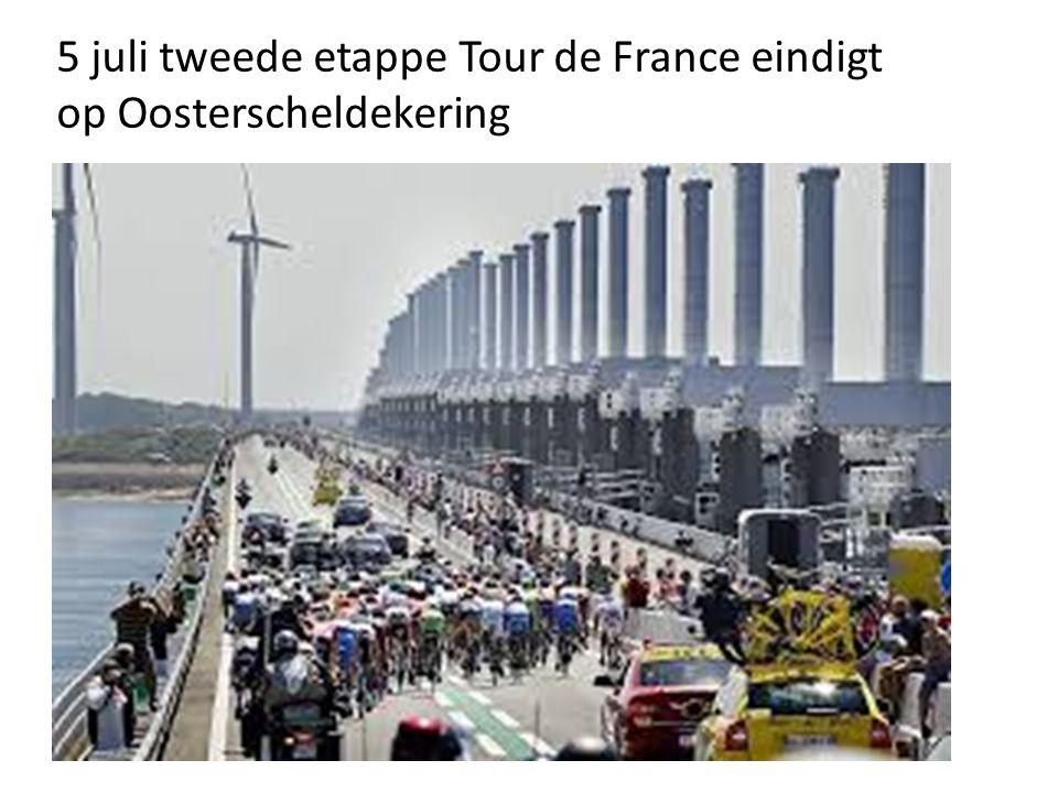 5 juli tweede etappe Tour de France eindigt op Oosterscheldekering