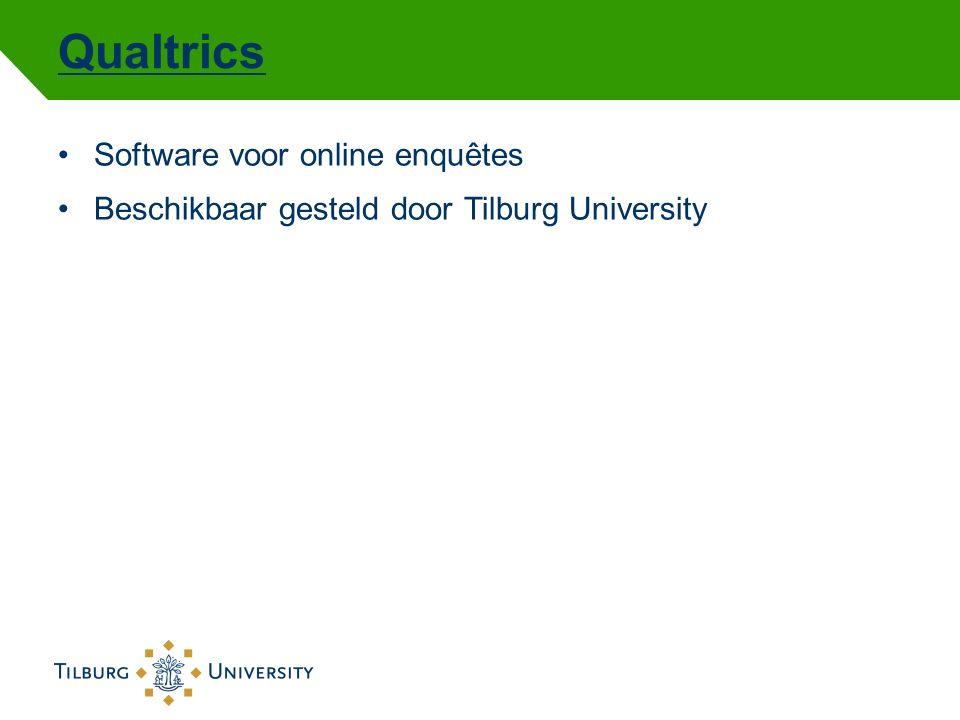 Qualtrics Software voor online enquêtes